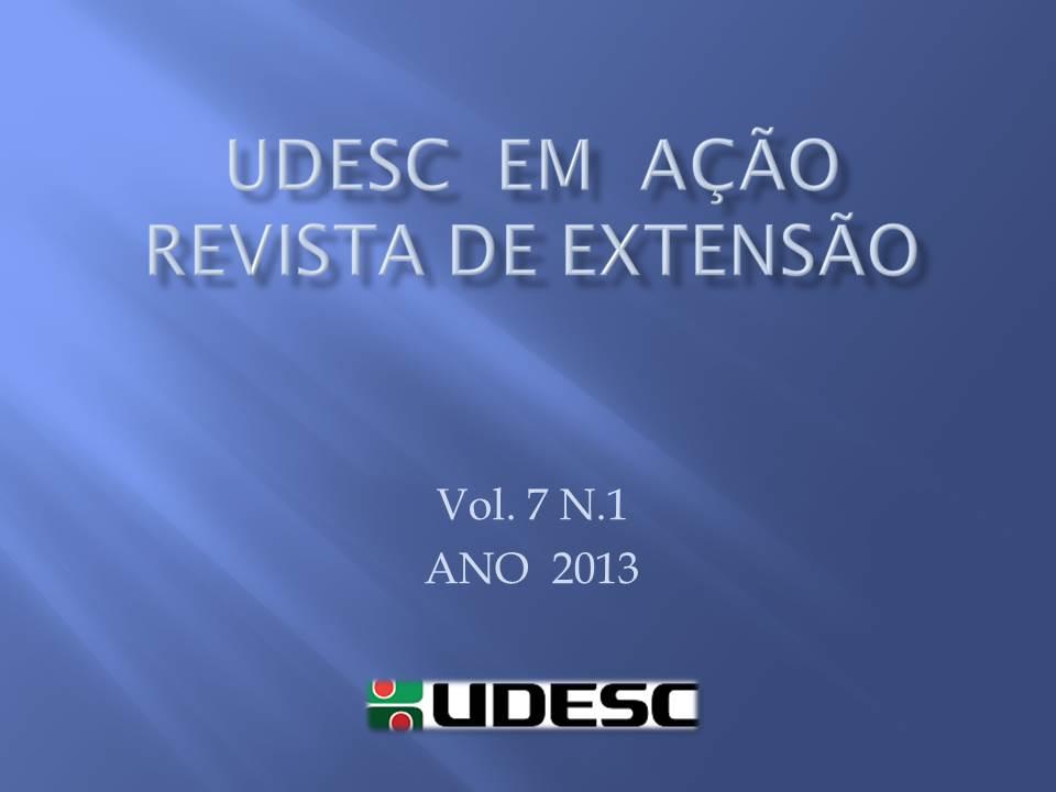 Visualizar v. 7 n. 1 (2013): UDESC EM AÇÃO