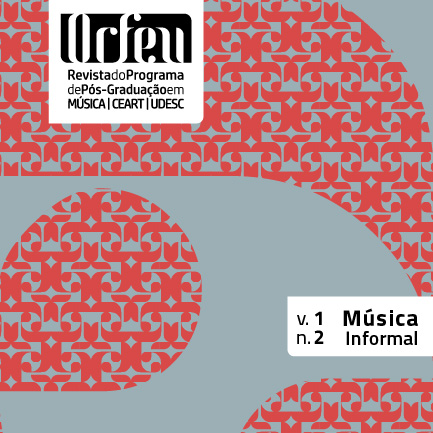 Visualizar v. 1 n. 2 (2016): Dossiê Música Informal