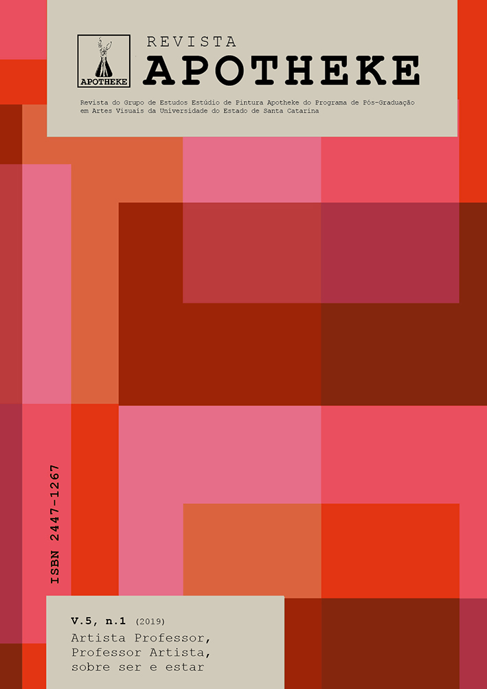 Visualizar v. 5 n. 1 (2019): Artista Professor, Professor Artista, sobre ser e estar